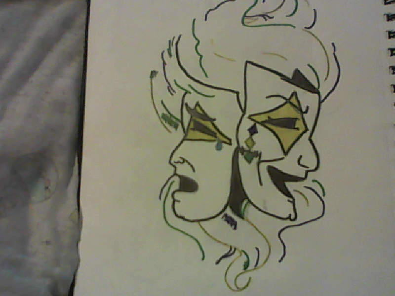 Line Drawing Face Tattoo : Mardi gras tattoos