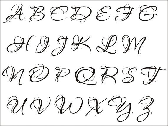 Single letter Tattoos