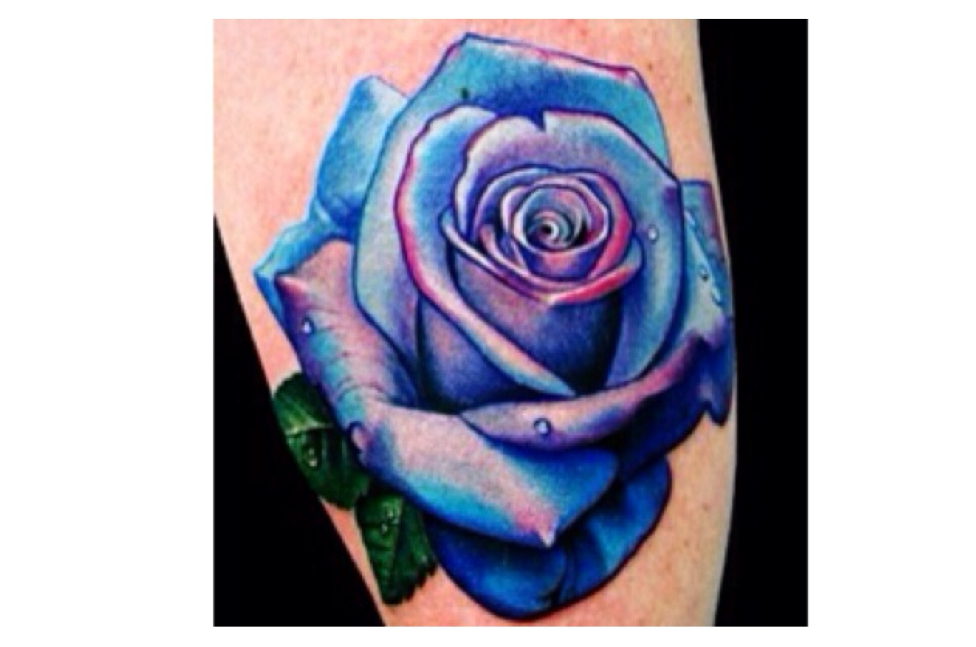 Blue Rose Flower Tattoo Meaning Flowers Healthy