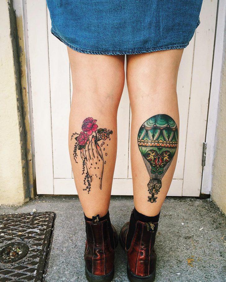 Female Calf Tattoos