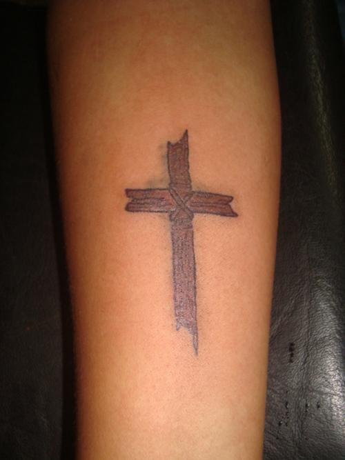Wood Cross Tattoos