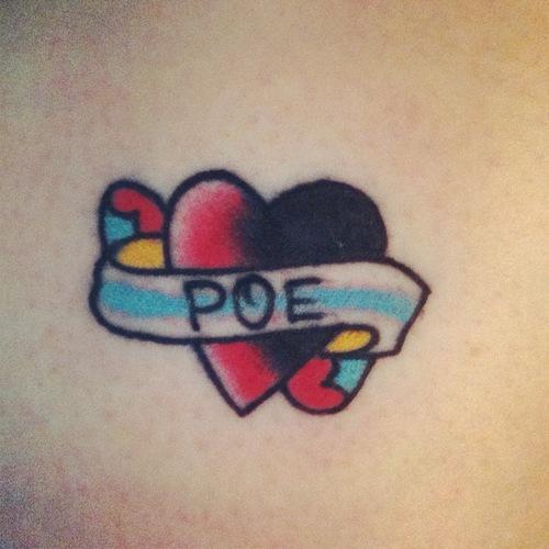 Ribbon heart tattoos for Heart ribbon tattoo