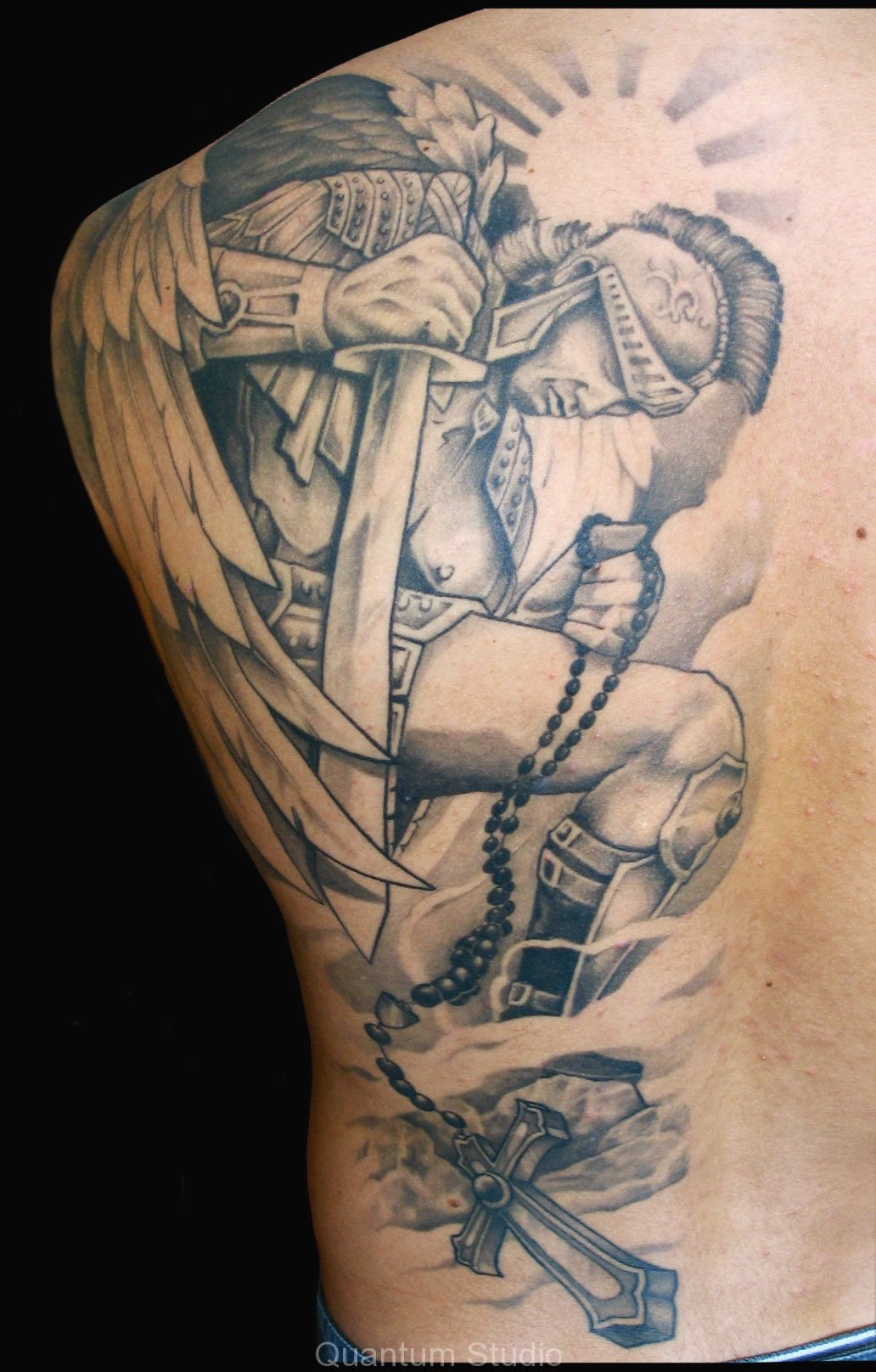 Warrior angel tattoos for Warrior angel tattoos