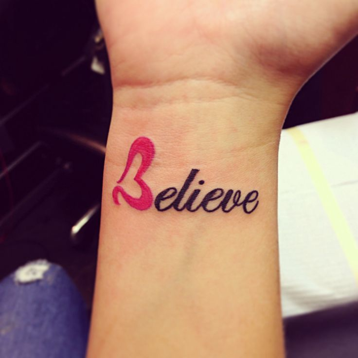 177 Best Believe Tattoo Images On Pinterest: Believe Tattoos