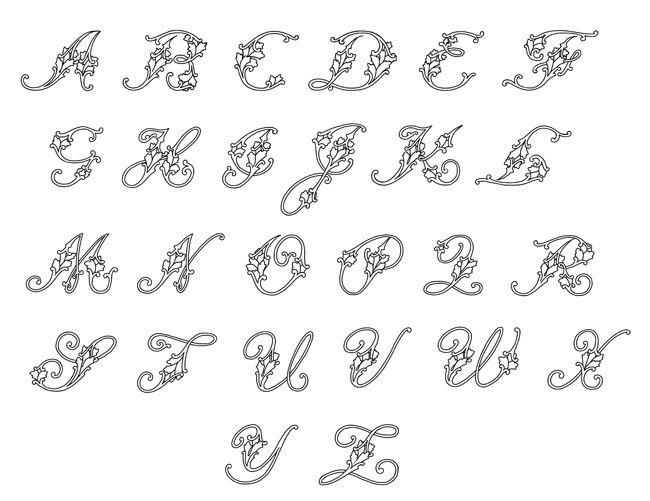 Flower Letters Font Flowers Healthy