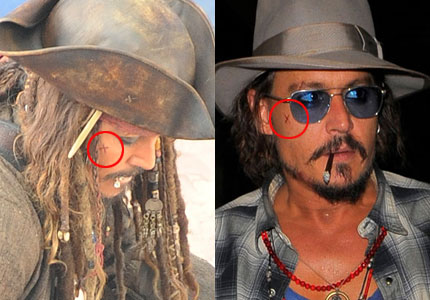 Johnny Depp Jack Sparrow Tattoo Unifeed Club