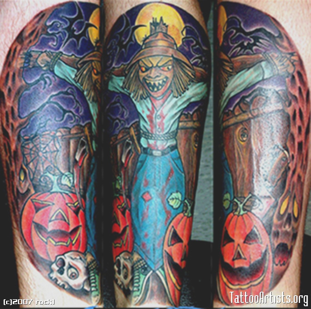 Scary Scarecrow Tattoos