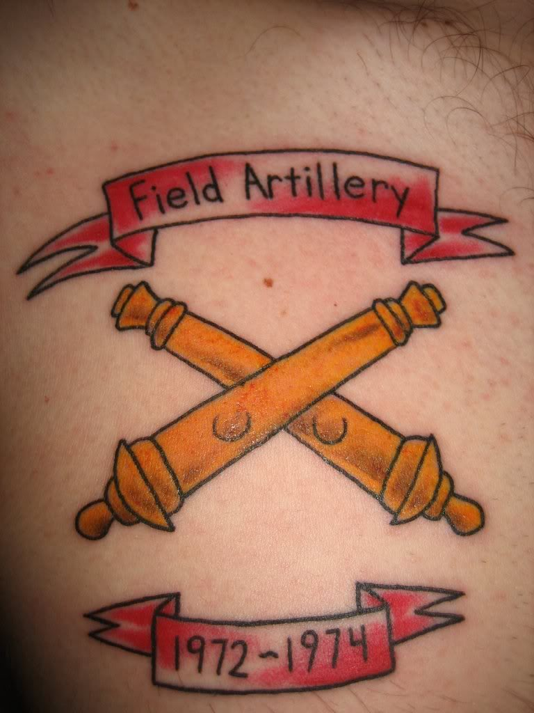 Field artillery tattoos
