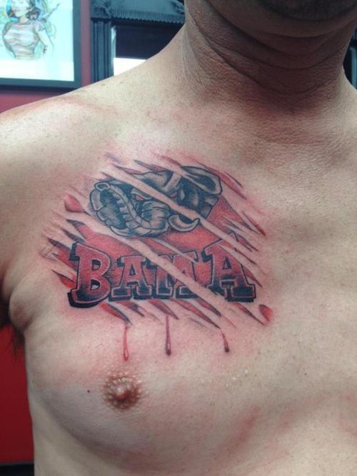 Alabama crimson tide tattoos
