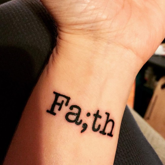 45 Perfectly Cute Faith Hope Love Tattoos And Designs With: Faith Symbol Tattoos