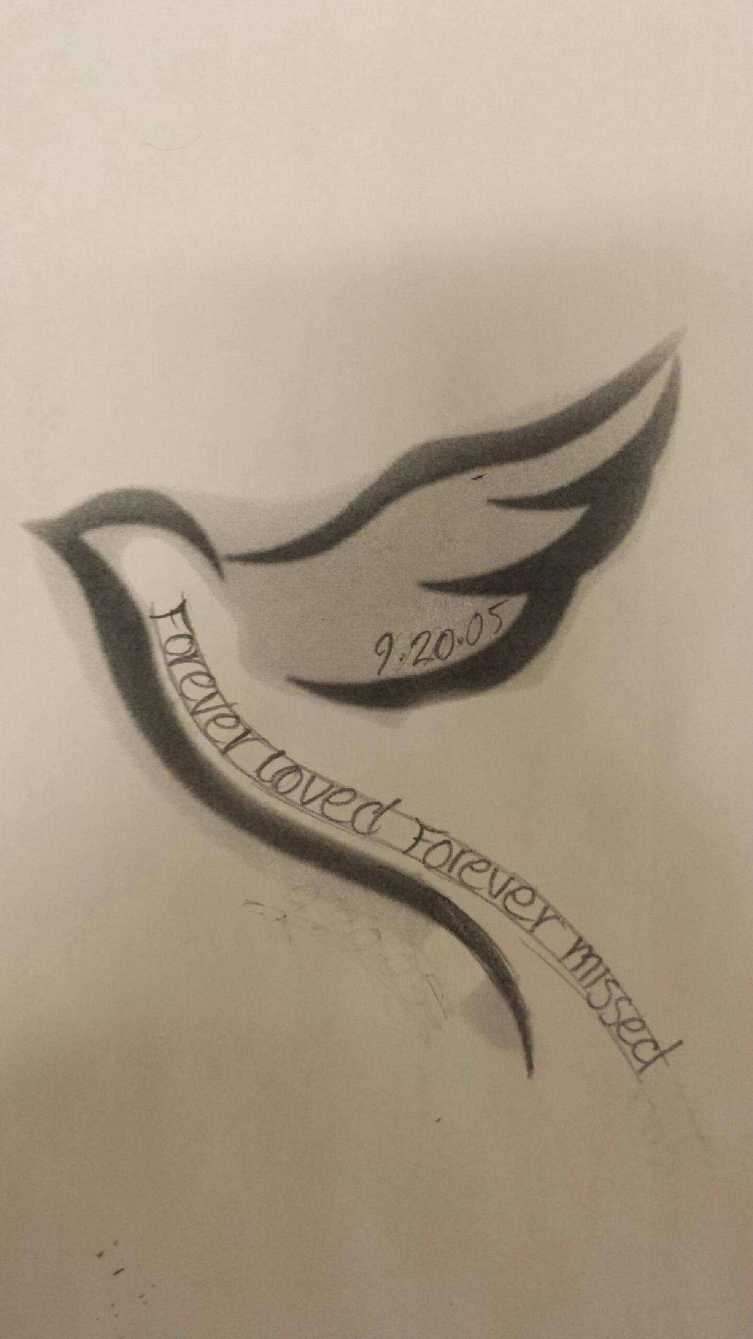 Simple Memorial Tattoos