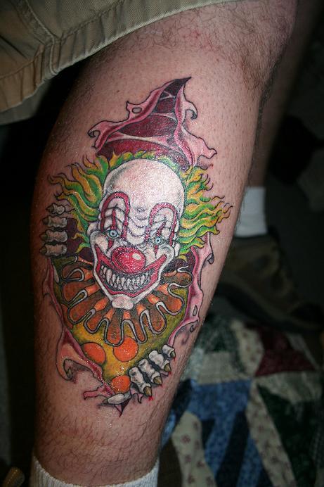 Scary clown tattoos for 3d nipple tattoo