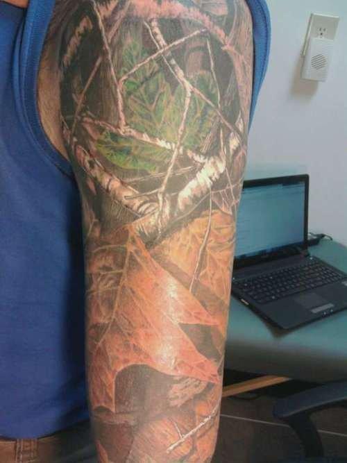 Camo tattoos for Camo sleeve tattoos