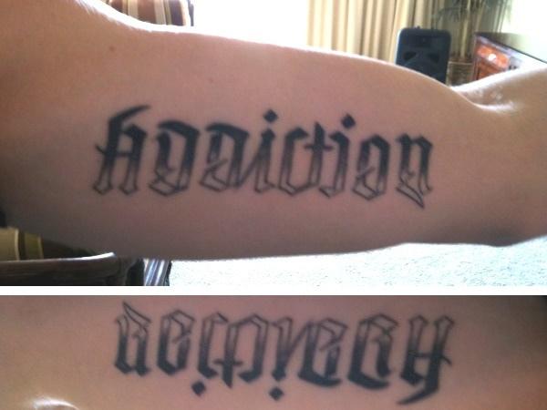 Recovering addict tattoos for Tattoo addiction albany ga