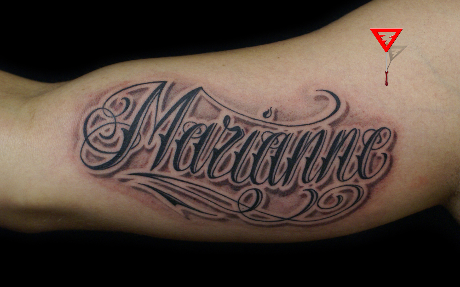 Forearm Lettering Tattoos