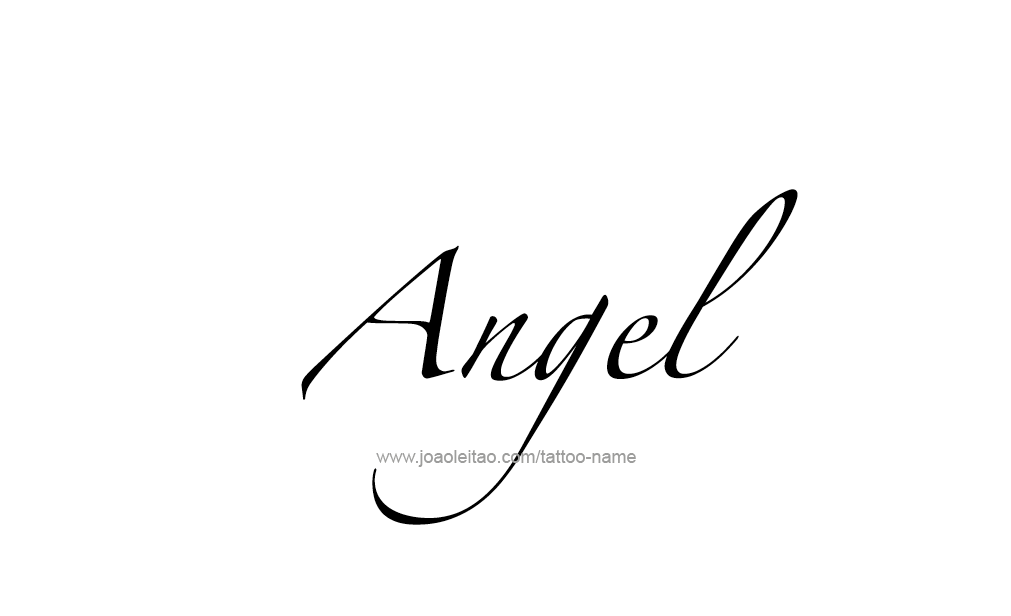 Angel Name Tattoo Designs