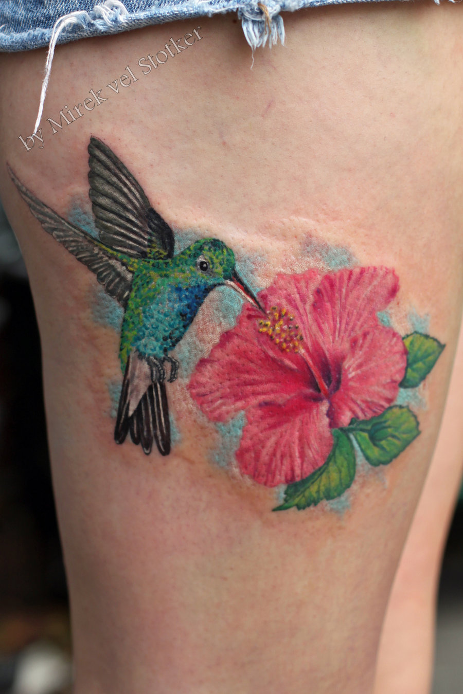 Hummingbird flower tattoos hummingbird with hibiscus flower tattoo by stotker on deviant izmirmasajfo