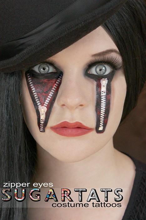 Halloween costume tattoos for Halloween makeup tattoos