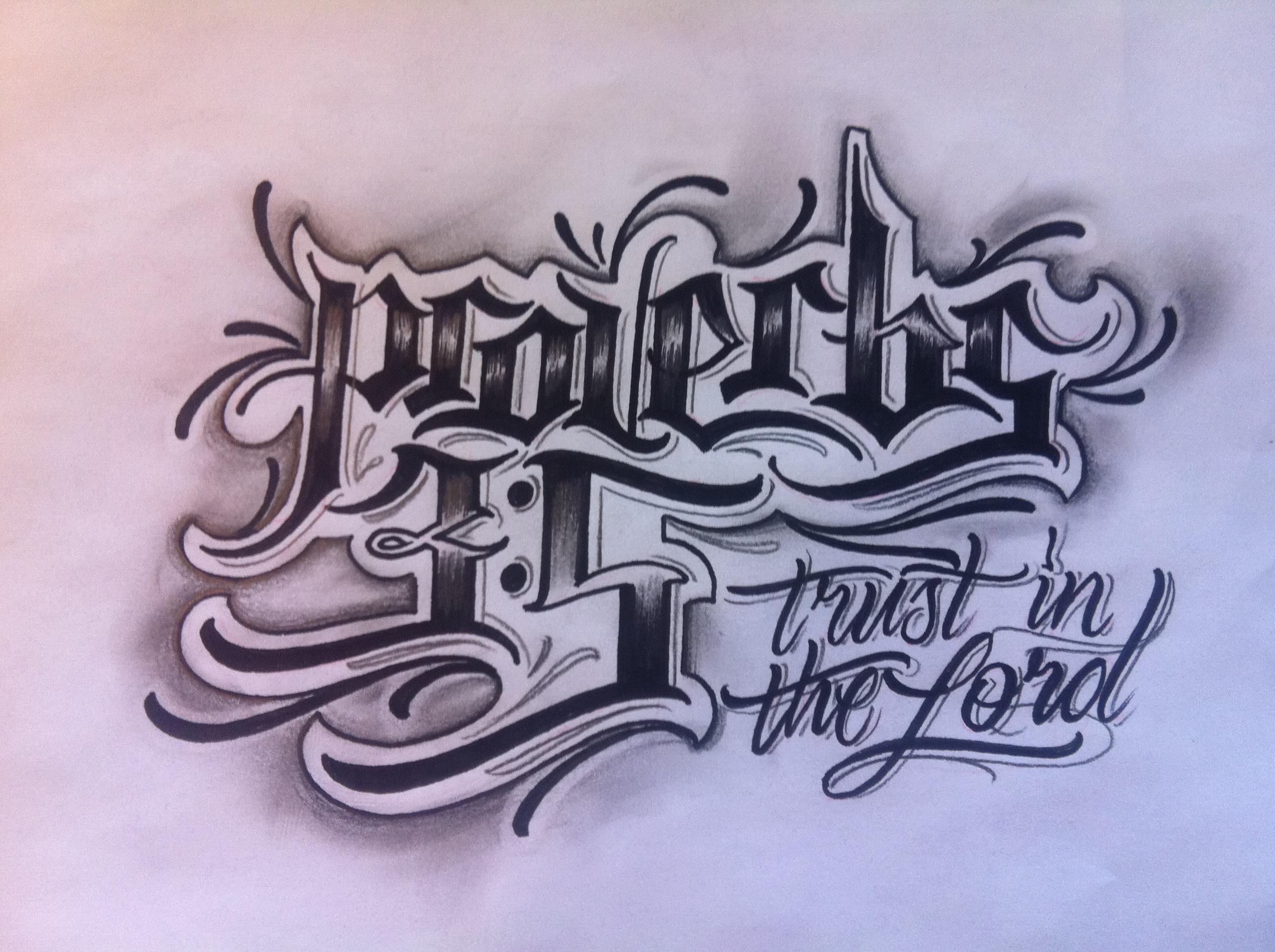 Big letter tattoos
