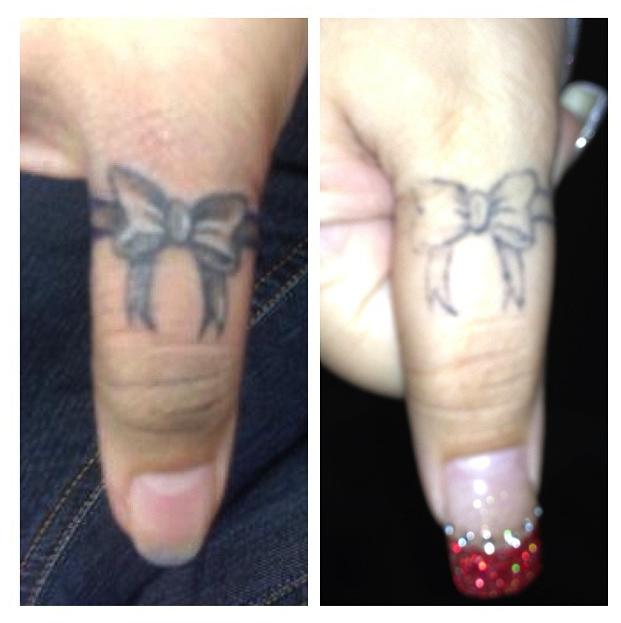 Fading tattoos for Finger tattoos fade