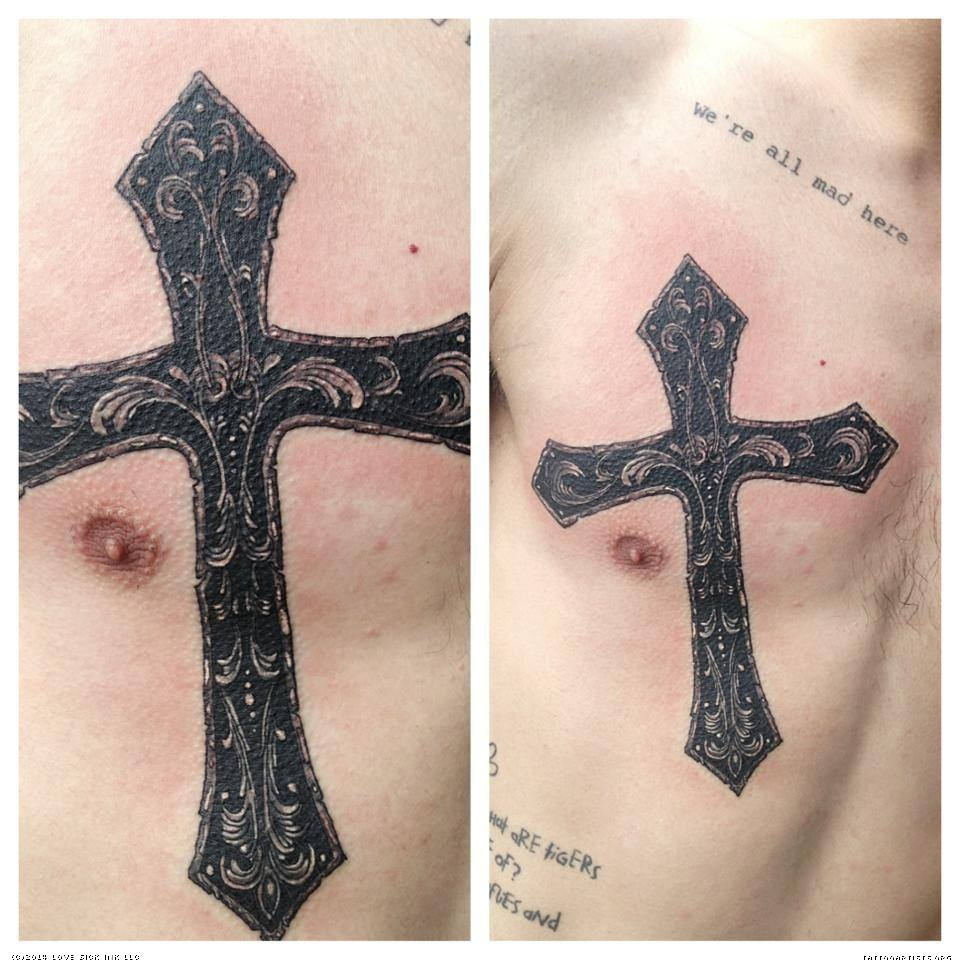sick cross tattoos. Black Bedroom Furniture Sets. Home Design Ideas
