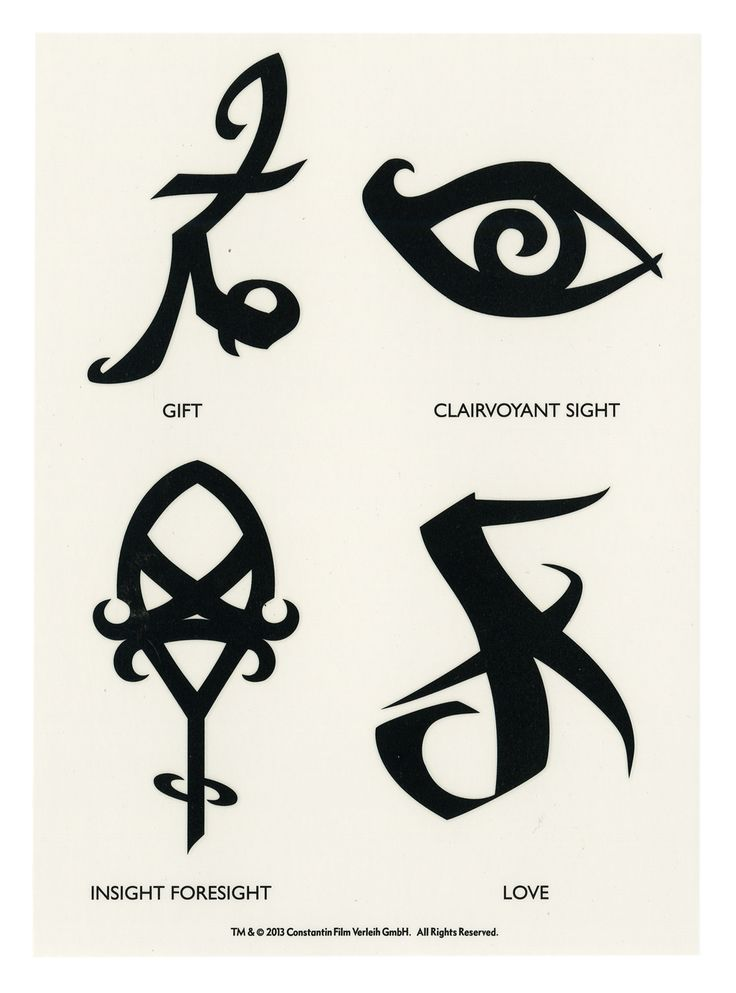 Shadowhunter Rune Tattoos