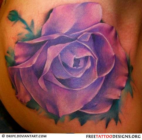 Purple Flower Tattoo Meaning Flowers Healthy