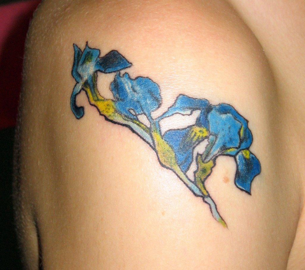 Iris flower tattoos izmirmasajfo