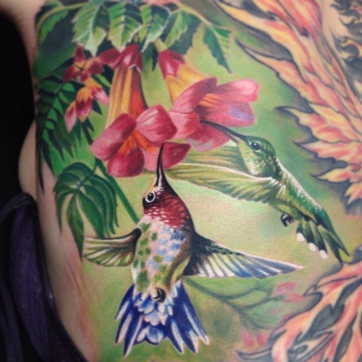 Beautiful Hummingbird Flower Tattoo Pinterest