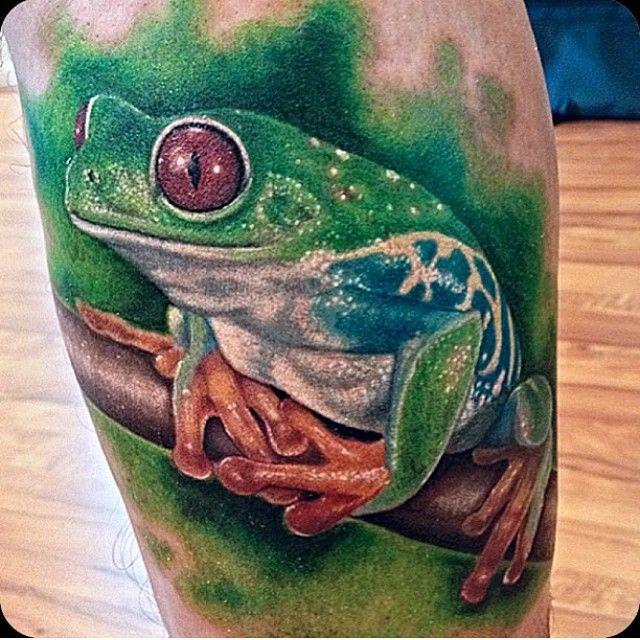 realistic frog tattoos. Black Bedroom Furniture Sets. Home Design Ideas