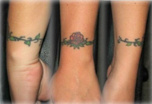 Rose Tattoo Around Wrist: Wrap Around Tattoos