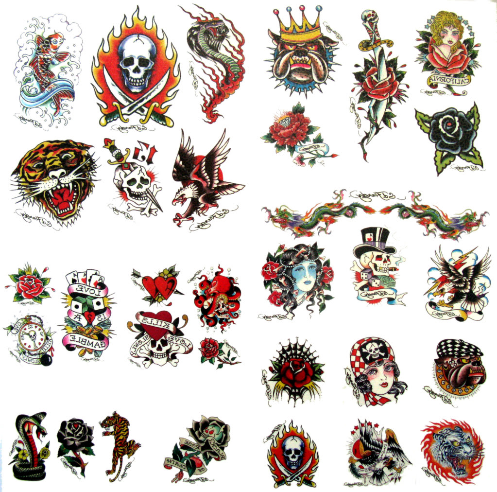 Ed Hardy Skull Tattoo Designs