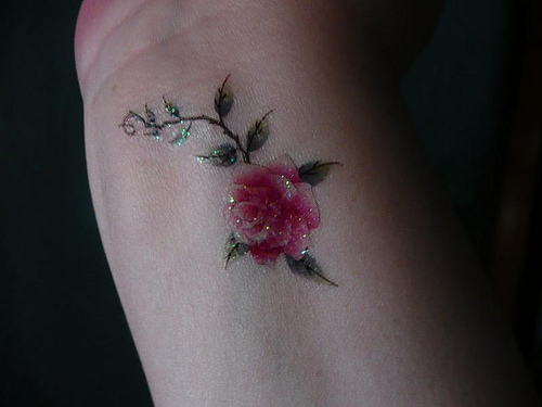 Small Rose Tattoos