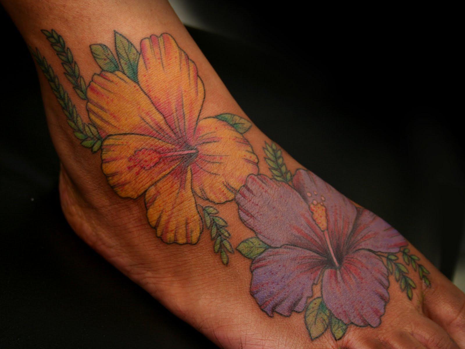 Hawaiian Flowers Tattoos Golfclub