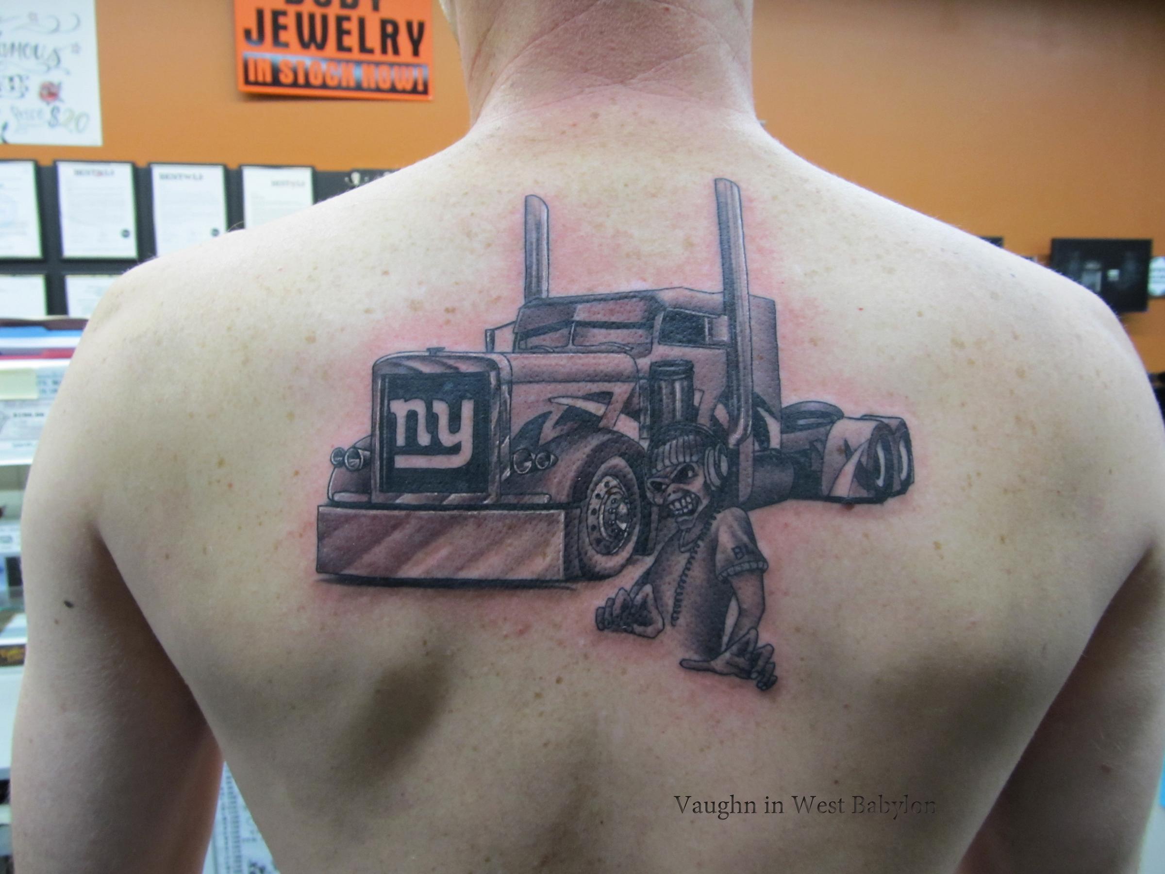truck tattoos. Black Bedroom Furniture Sets. Home Design Ideas