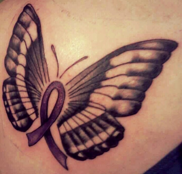 Pancreatic cancer tattoos for Pancreatic cancer ribbon tattoos