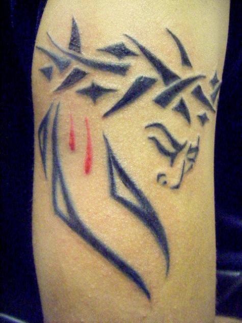 Jesus Tribal Tattoos