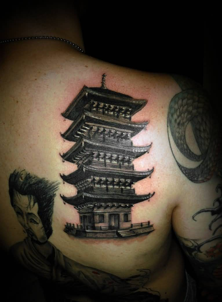 japanese house tattoos. Black Bedroom Furniture Sets. Home Design Ideas
