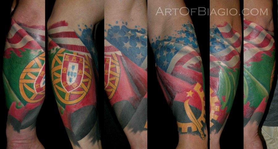 Azores flag Tattoos